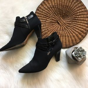 Donald J. Pliner Black Heeled Tami Booties